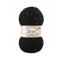 Alize Alpaca Tweed № 60 чорний