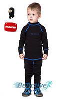 Теплое детское термобелье Radical Snowman (черный с синей строчкой).  (r1181)