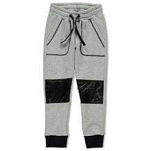 Утепленные Детские спортивные штаны для мальчика с начесом BIMBUS Италия 163IFBM004 Серый весеннии осенью