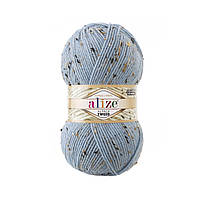 Alize Alpaca Tweed № 356 блакитний