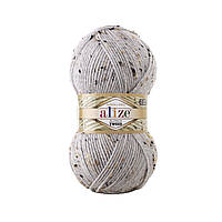 Alize Alpaca Tweed № 684 попелястий меланж