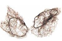 Сетка паутинка для формирования прически коричневая 12 шт/уп
