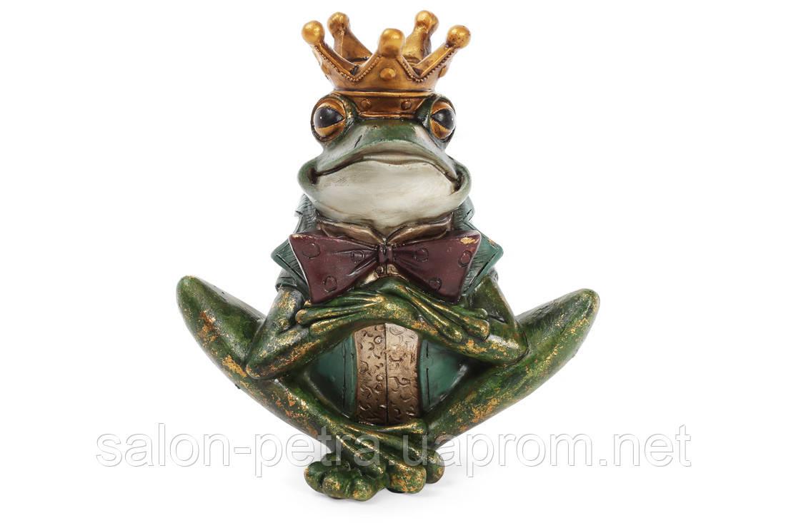 Декоративная фигура-подсвечник Принц Лягушенок 18см, фото 1