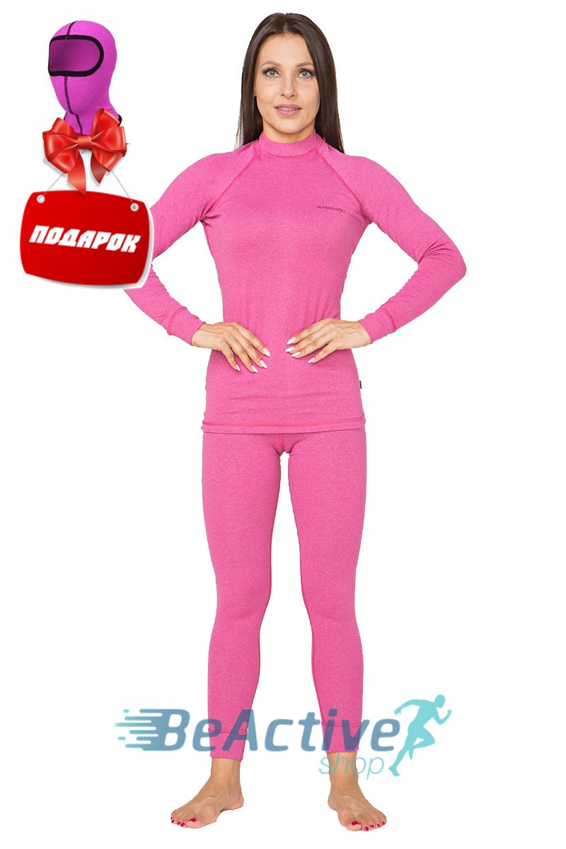 Комплект Теплого женского термобелья Radical Cute (розовый). Комплект+подарок! (r1111)