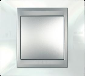 Рамка 1 пост. Unica Top білий/алюміній MGU66.002.092
