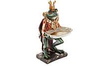 Декоративна фігура з тарілочкою Принц Жабенятко 28см, фото 1