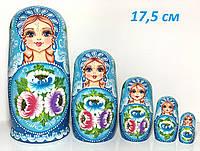 Матрешки красивые подарочные с цветами, 5 шт, декор интерьера