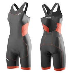 Женский костюм для триатлона 2XU WT3188d (серый / оранжевый)