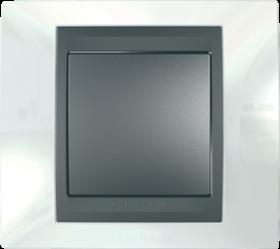 Рамка 1 пост. Unica Top белоснежный/графит MGU66.002.292