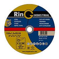 Круг отрезной для металла Ring125х1,2х22