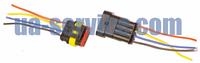 Роз'єм Super Seal 1.5 4 контакту (зібрані з проводами), фото 1
