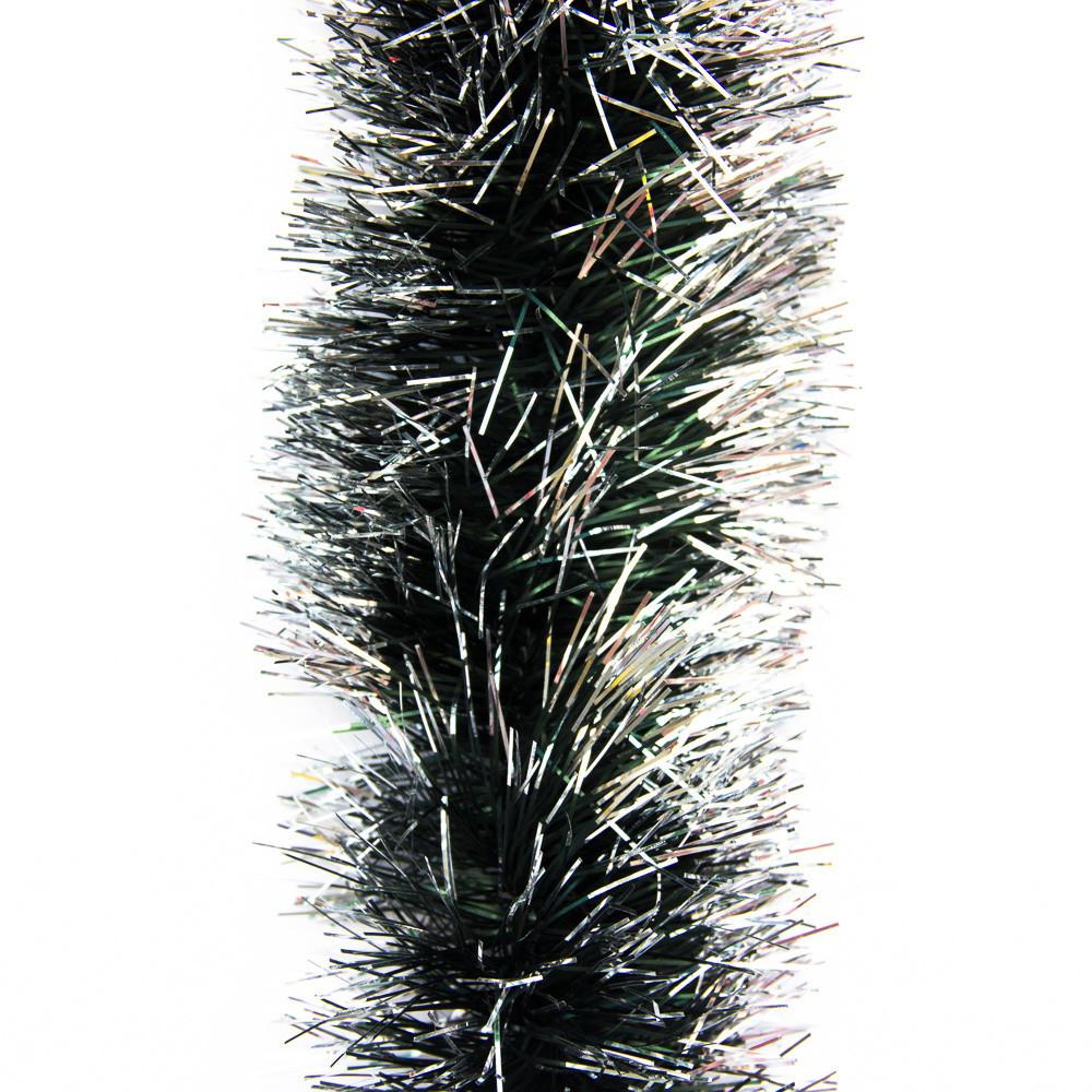 Новогоднее украшение - мишура, 200*9 см, ПВХ, зелено-белый (ГК-90/3-5)