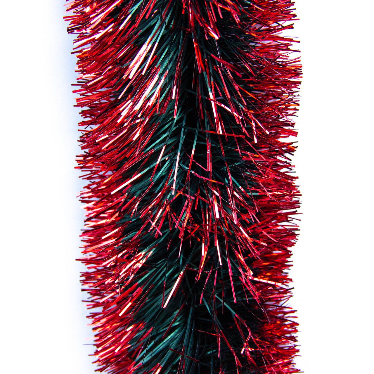 Новогоднее украшение - мишура, 300*9 см, ПВХ, зелено-красный (ГК-90/3-3)