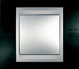 Рамка 6 модульна Unica Top чорний родій/алюміній MGU66.106.093, фото 2