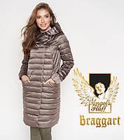 Длинный демисезонный воздуховик Braggart Angel's Fluff цвета темная пудра