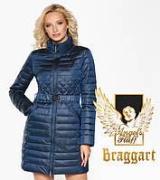 Классное женское демисезонное пальто Braggart Angel's Fluff темная лазурь