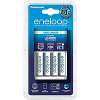 Зарядное устройство eneloop panasonic basic charger new и 4хaa 1900 mah (k-kj51mcc40e)