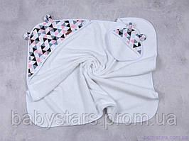 """Детские полотенце с капюшоном """"Delta"""" розовое"""