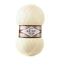 Alize Angora Real 40 Plus № 01 кремовый