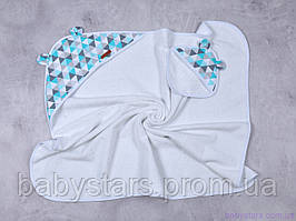 """Детское полотенце с капюшоном """"Delta"""" голубое"""