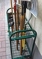 Подставка для садового инвентаря, металлическая полка для садового инструмента
