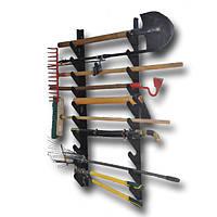 Полка металлическая для садового инструмента на 8 ед.