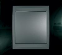 Рамка 1 пост. Unica Top чёрный родий/графит MGU66.002.293