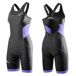 Женский костюм для триатлона 2XU WT3188d (чёрный / аметист)
