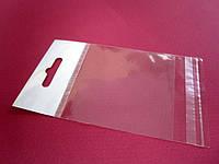 Пакет с евро-слотом + клапан с липкой лентой 70*70мм