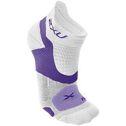 Женские гоночные носки Vectr 2XU WQ3529e (белый / фиолетовый)