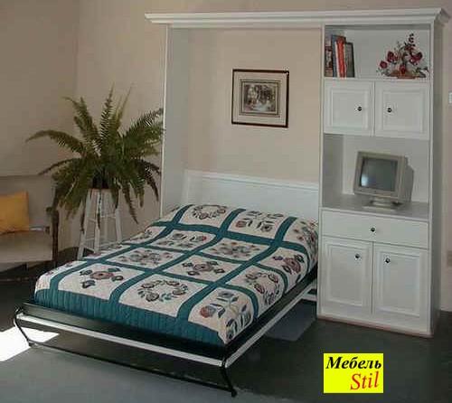 Шкаф-кровать с книжным шкафом, фото 1