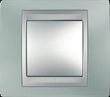 Рамка 3 пост. Unica Top изумрудный/алюминий MGU66.006.094, фото 2