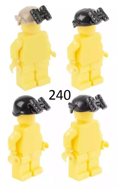 Оружие для минифигурок Lego Лего Шлемы,каски с прибором ночного видения