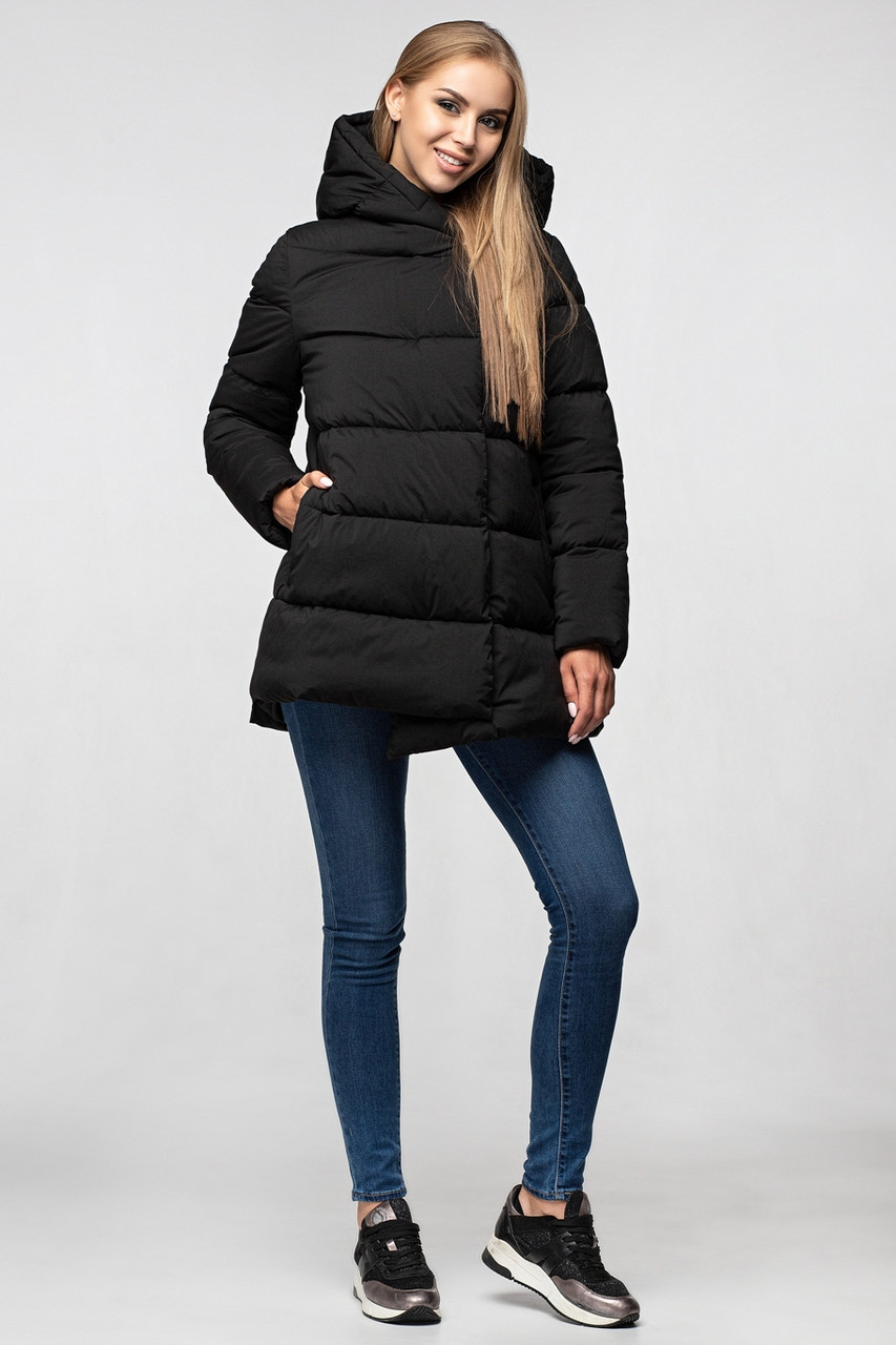Женская коротка куртка KTL-358 черного цвета из новой коллекции KATTALEYA