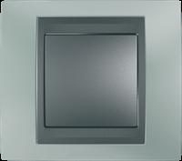 Рамка 1 пост. Unica Top изумрудный/графит MGU66.002.294