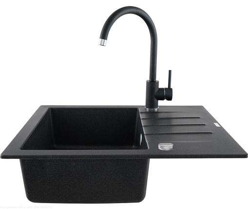 Kernau KGS A 4560 1B1D BLACK METALLIC мойка черная на кухню, фото 2
