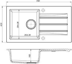 Kernau KGS A 50 1B1D GREY METALLIC серая гранитная мойка для кухни, фото 2