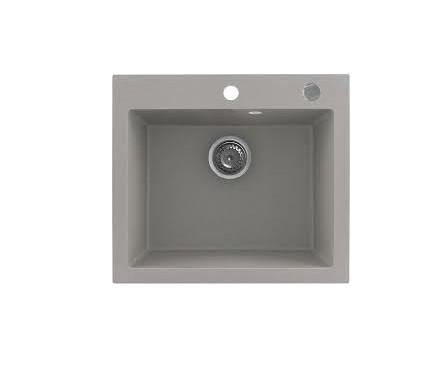 Kernau KGS H 60 1B GREY METALLIC кухонная мойка каменная серая 56*50 см