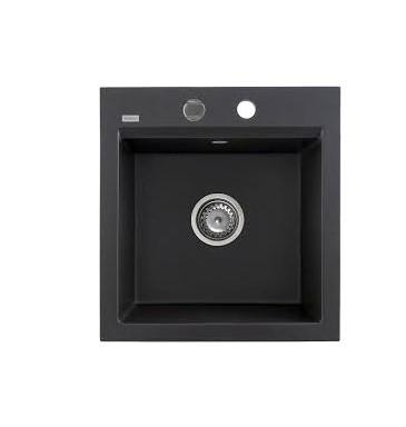 Kernau KGS M 45 1B BLACK METALLIC кухонная раковина черного цвета