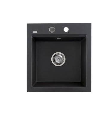 Kernau KGS M 45 1B BLACK METALLIC кухонная раковина черного цвета, фото 2