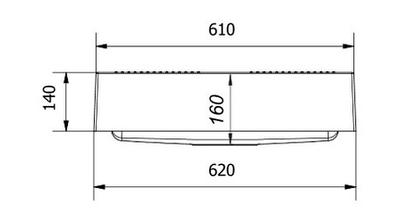 Kernau KGS N 60 1B PURE WHITE накладная кухонная мойка из гранита 62*60 см, фото 2