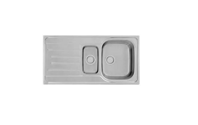 Kernau KSS G 604 1,5B1D SMOOTH Кухонная мойка  на два отделения из нержавеющей стали, фото 2