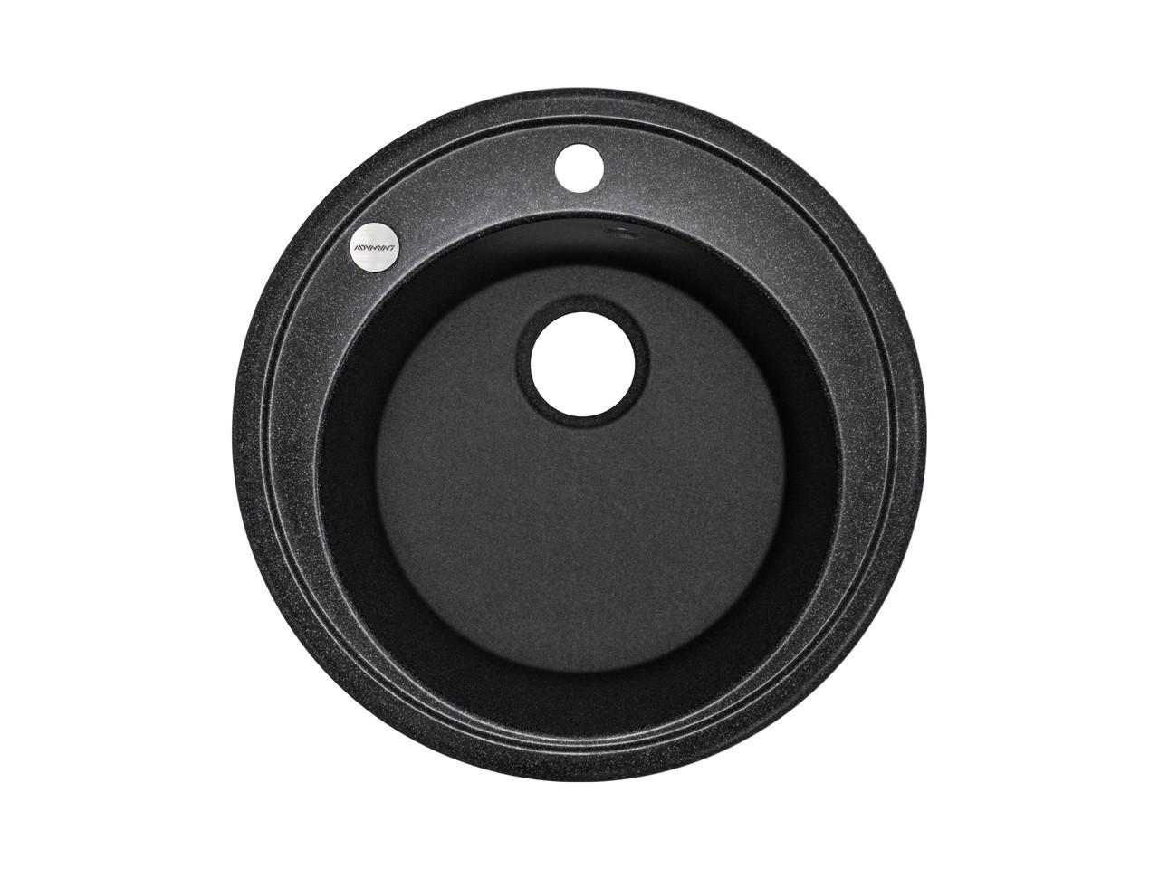 Kernau KGS T 51 1B BLACK METALLIC мойка черная круглая 51 см