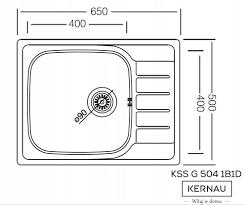 Kernau KSS G 504 1B1D LINEN мойка нержавейка с крылом для сушки, фото 2