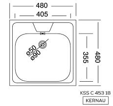 Kernau KSS C 453 1B LINEN мойка нержавейка (48х48 см), фото 2
