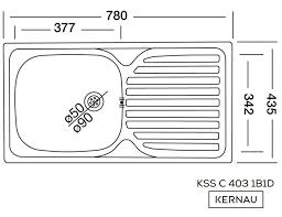 Kernau KSS C 403 1B1D SMOOTH мойка нержавейка с крылом для сушки (78х43,5 см), фото 2