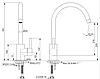 Kernau KWT 07A PURE WHITE высокий смеситель для кухни (сталь/чисто-белый), фото 2