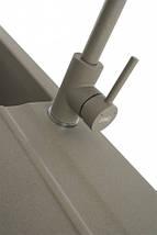 Kernau KWT 07A NATURAL BEIGE высокий смеситель для кухни (сталь/натуральный беж), фото 2