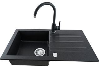 Kernau KWT 07A BLACK METALLIC высокий смеситель для кухни (сталь/черный металлик), фото 2