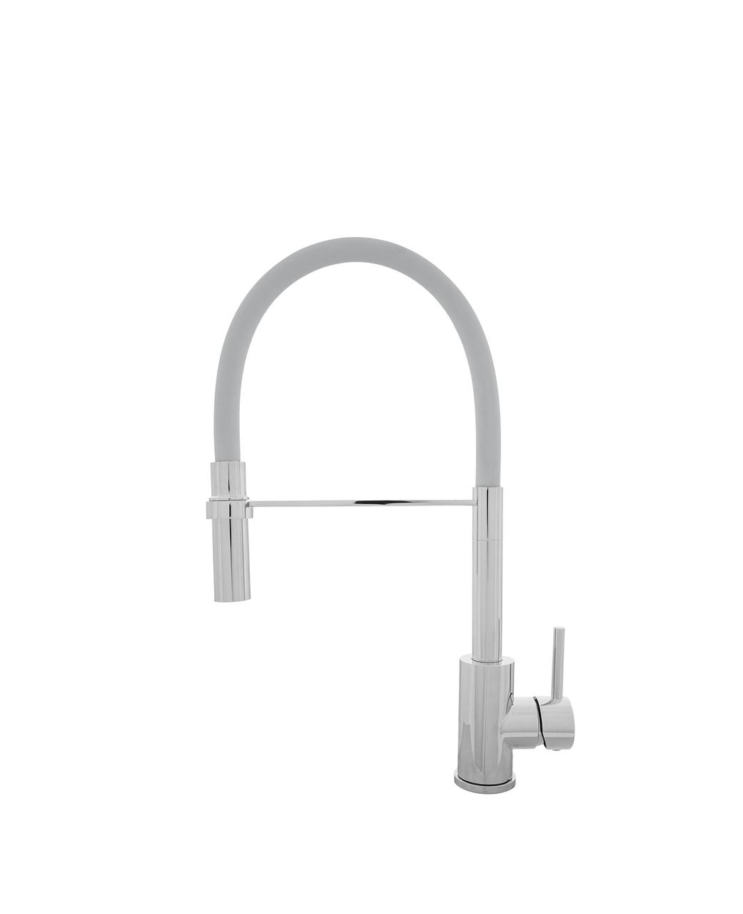 Kernau KWT 20 PO CHROME/GREY смеситель для кухни с душем (сталь/хром/серый)